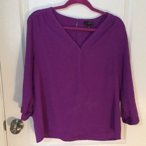 The Limited Purple Dress Blouse
